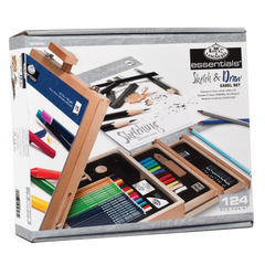 Royal langnickel 124 piece sketching and drawing easel artist set