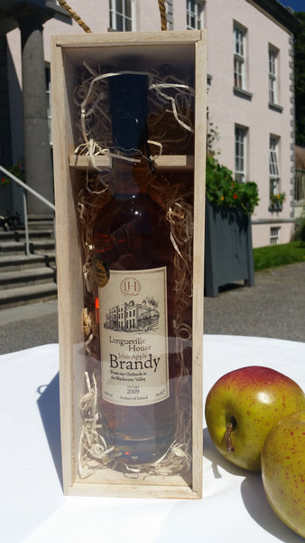 Presentation bottle of Longueville House Apple Brandy