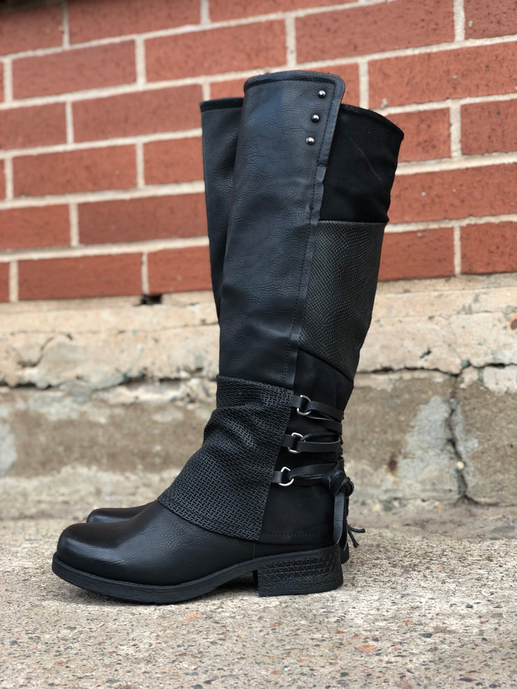Maxie | Tall Boot - Black - Wright Shoe Co. Ltd