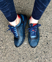 Joelle | Leather Sneaker - Navy - Wright Shoe Co. Ltd