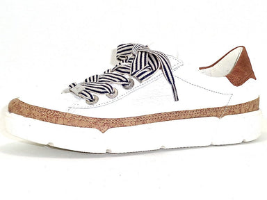 Renata | Leather Sneaker - White/Cork - Wright Shoe Co. Ltd