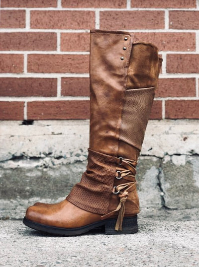 Maxie | Tall Boot - Camel - Wright Shoe Co. Ltd