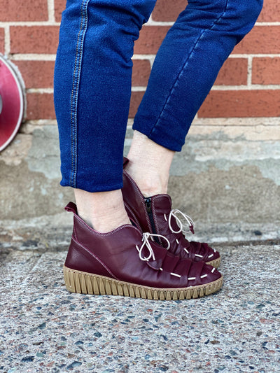 Nespea Leather Shoe | Bordeaux - Wright Shoe Co. Ltd