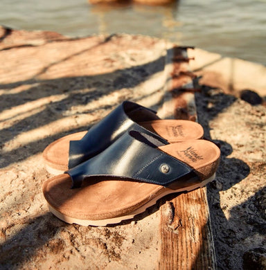 Tenma | Toe-Wrap Sandal - Black - Wright Shoe Co. Ltd