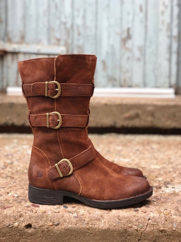 Ivy | 3/4 Moto Boot - Rust - Wright Shoe Co. Ltd