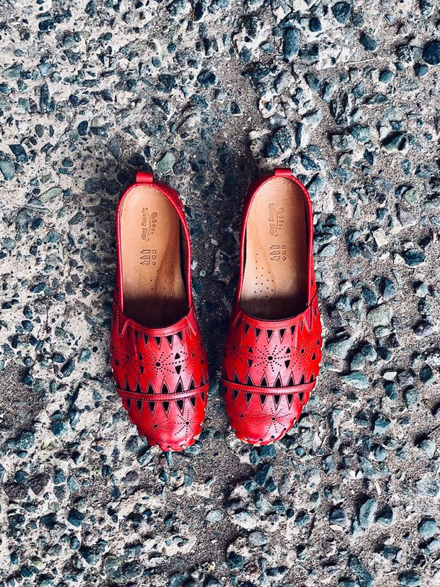 Fusaro | Slip-On Loafer - Red - Wright Shoe Co. Ltd