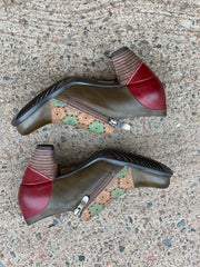 Kantia Shootie | Olive Multi - Wright Shoe Co. Ltd