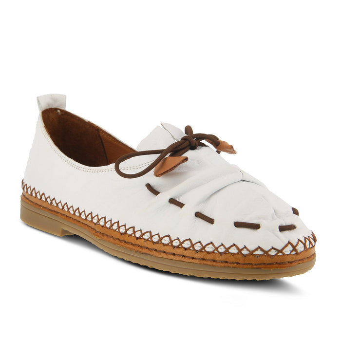 Berna | Slip-On Shoe - White - Wright Shoe Co. Ltd