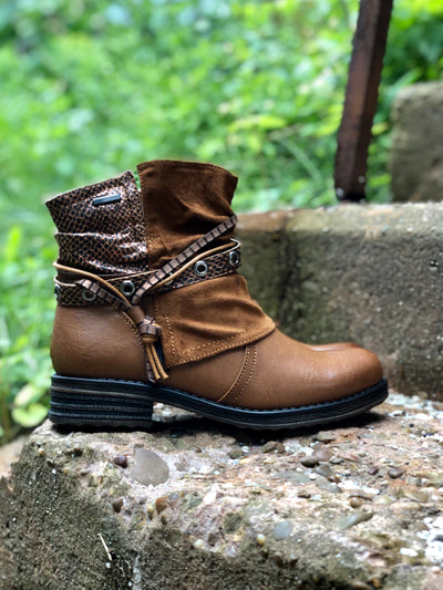 Manija | Women's Ankle Boot - Camel - Wright Shoe Co. Ltd