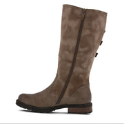 Dercetis | 3/4 Adjustable Calf Boot - Taupe - Wright Shoe Co. Ltd