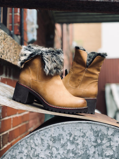 Damei | Fold Over Cuff Boot - Camel - Wright Shoe Co. Ltd