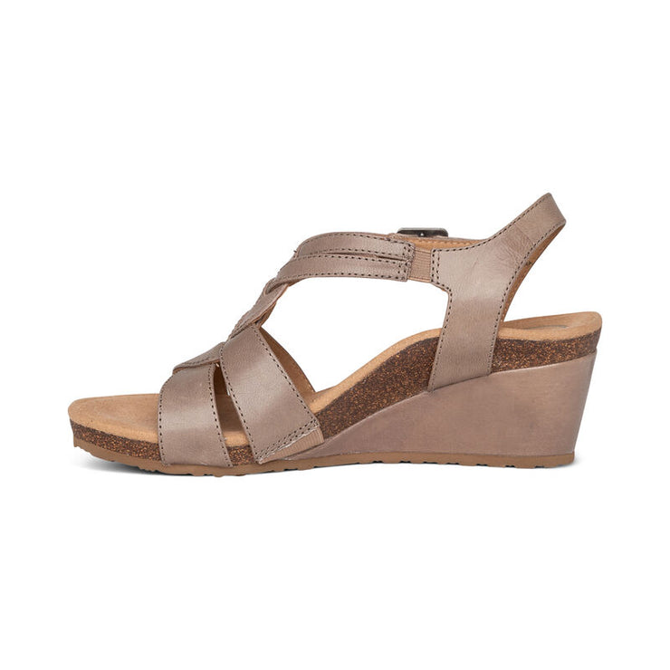 "Keira | 2.25"" Wedge Sandal - Lemon (Orthotic Technology) - Wright Shoe Co. Ltd"