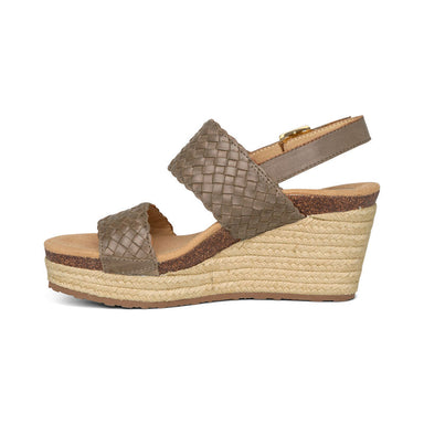 "Summer | Woven 3"" Wedge - Taupe (Orthotic Technology) - Wright Shoe Co. Ltd"