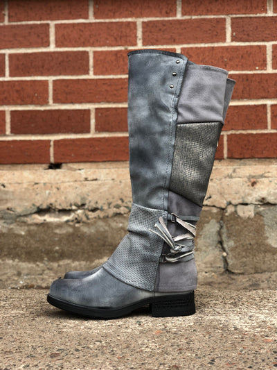 Maxie | Tall Boot - Grey - Wright Shoe Co. Ltd