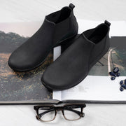 Sami | Portuguese Leather Low Boot - Black - Wright Shoe Co. Ltd