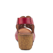 Inocencia | Wedge Sandal - Red - Wright Shoe Co. Ltd