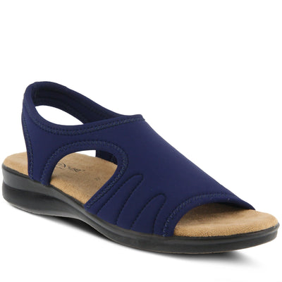 Nyaman | Easy Flex Sandal - Navy - Wright Shoe Co. Ltd