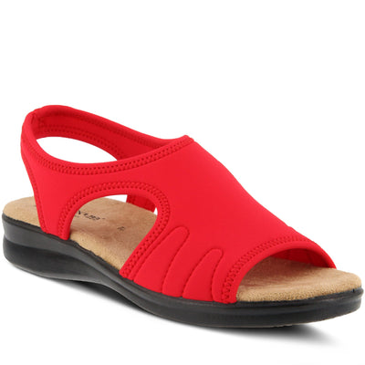 Nyaman | Easy Flex Sandal - Red - Wright Shoe Co. Ltd
