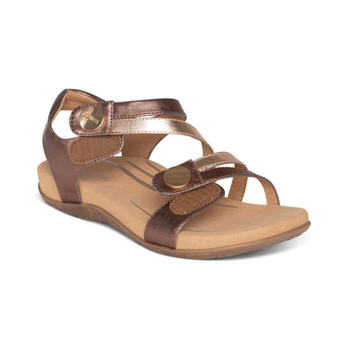 Jess | Adjustable Sandal - Bronze (Orthotic Technology) - Wright Shoe Co. Ltd