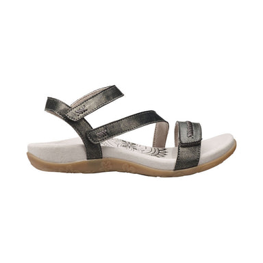 Gabby | Adjustable Sandal - Pewter (Orthotic Technology) - Wright Shoe Co. Ltd