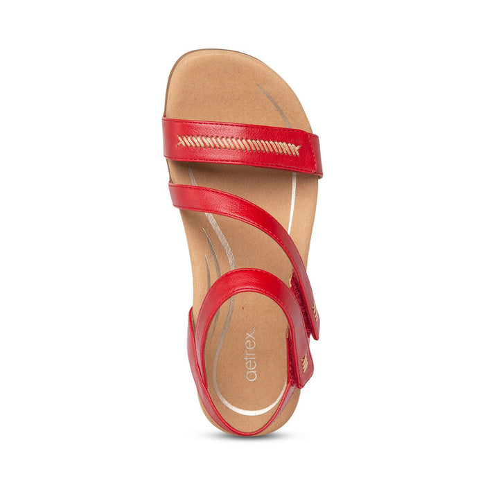 Gabby | Adjustable Sandal - Red (Orthotic Technology) - Wright Shoe Co. Ltd