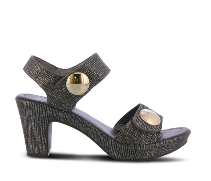 Dade-Party | Trendy Quarter Strap Sandal - Pewter - Wright Shoe Co. Ltd