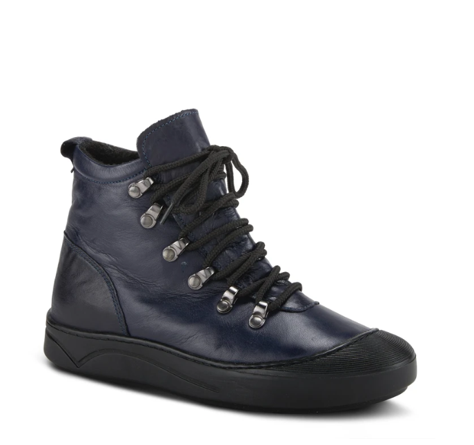 Darleen Lace up Bootie | Navy - Wright Shoe Co. Ltd