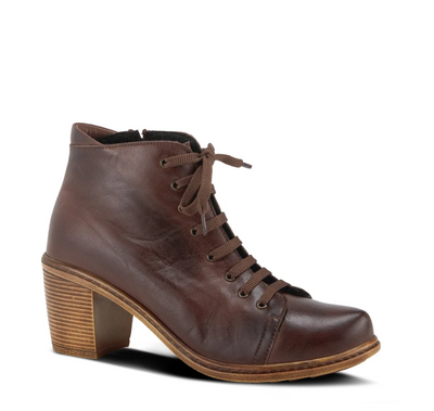Zelanie Bootie | Chocolate Brown - Wright Shoe Co. Ltd