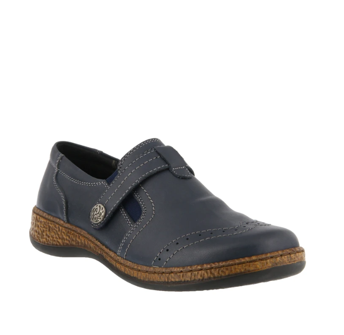 Smolqua Shoe | Navy - Wright Shoe Co. Ltd