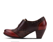 Therise Oxford Pump | Brown Multi - Wright Shoe Co. Ltd