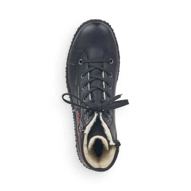 Rieker Cordula Z4210-00 | Black Tartan - Wright Shoe Co. Ltd