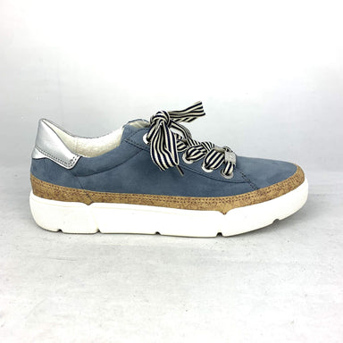 Renata | Leather Sneaker - Jeans - Wright Shoe Co. Ltd