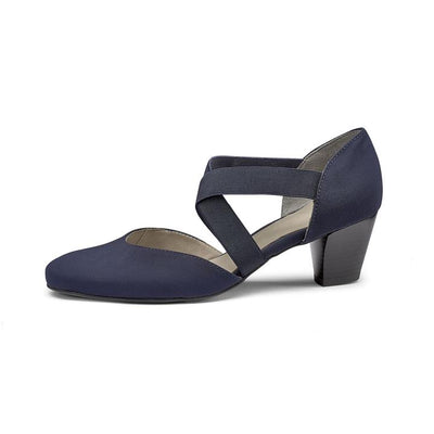 Tiffanie | Navy Pump - Wright Shoe Co. Ltd
