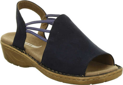 Kimmy | Slip-On Sandal - Navy - Wright Shoe Co. Ltd