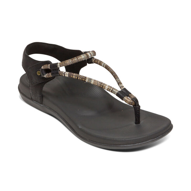 Bailey | Water Friendly Adjustable Sandal - Black (Orthotic Technology) - Wright Shoe Co. Ltd