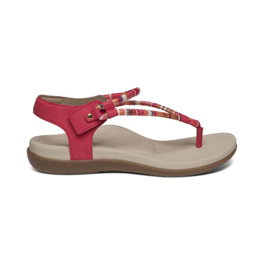 Bailey | Water Friendly Adjustable Sandal - Red (Orthotic Technology) - Wright Shoe Co. Ltd