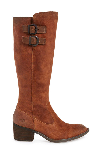 Basil | Tall Distressed Leather Boot - Rust - Wright Shoe Co. Ltd