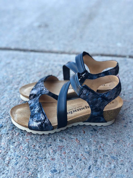 Bilma | Adjustable Wedge Sandal - Storm - Wright Shoe Co. Ltd