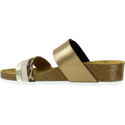 Bonnie | Supportive Slide - Gold/Bronze - Wright Shoe Co. Ltd