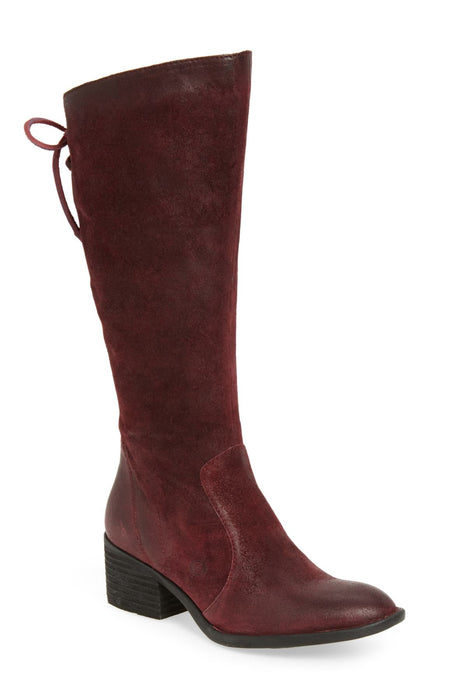 Felicia | Knee High Boot - Burgundy - Wright Shoe Co. Ltd