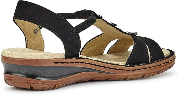 Helaine | Lightweight Sandal - Black - Wright Shoe Co. Ltd