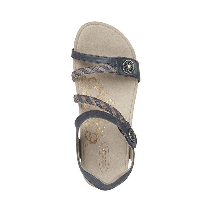 Jillian | Adjustable Sandal - Navy (Orthotic Technology) - Wright Shoe Co. Ltd
