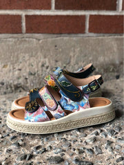 Michay | Quad Adjustment Espadrille Sandal - Sky Blue Multi - Wright Shoe Co. Ltd
