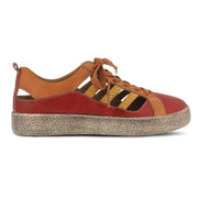 Porscha | Leather Sneaker - Red Multi - Wright Shoe Co. Ltd