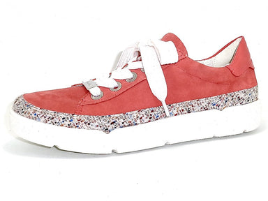 Renata | Leather Sneaker - Coral - Wright Shoe Co. Ltd