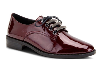 Oxford Lace up | Bordeaux Patent - Wright Shoe Co. Ltd