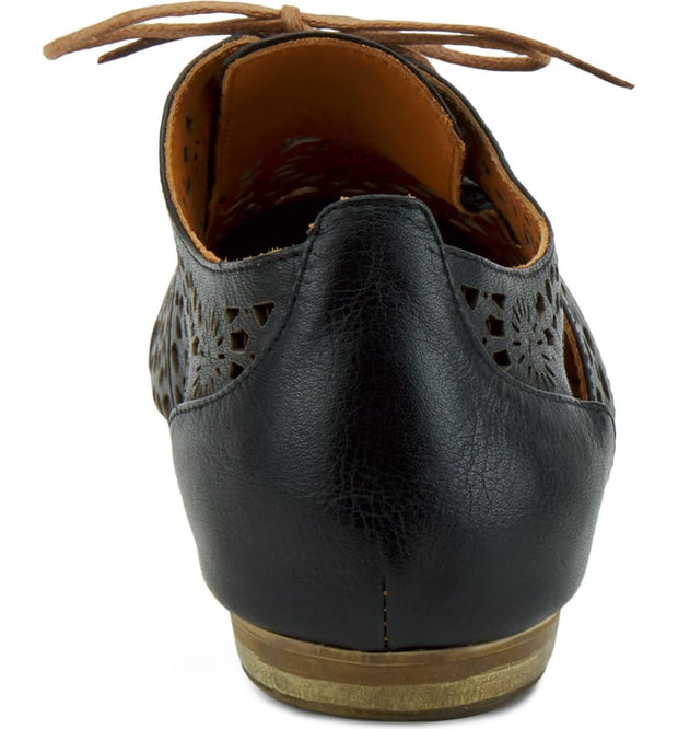 Theone | Cutout Derby Shoe - Black - Wright Shoe Co. Ltd