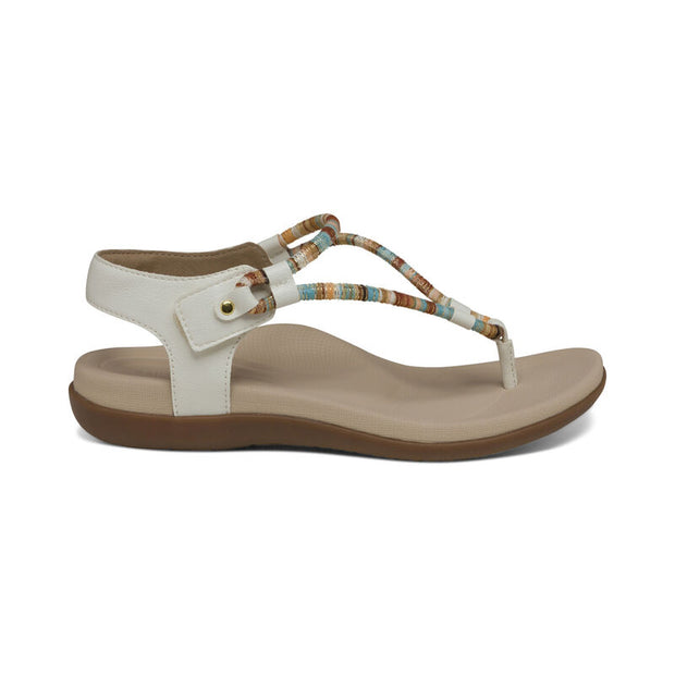 Bailey | Water Friendly Adjustable Sandal - White (Orthotic Technology) - Wright Shoe Co. Ltd