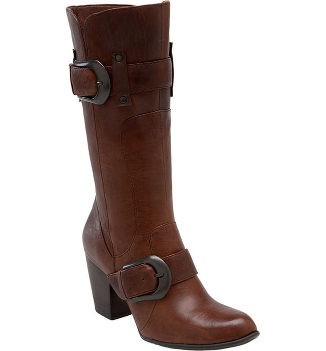 Yolanda | Heeled 3/4 Boot - Brown - Wright Shoe Co. Ltd