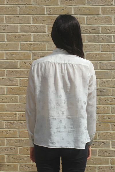 FAB-TO-WEAR 80's Vintage Sheer Blouse